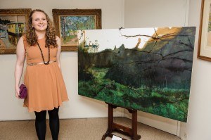 Morag Donkin with the winning piece 'Redhall house I'